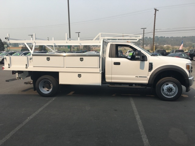 2018 F-550 Regular Cab DRW 4x4,  Harbor Contractor Body #F71882 - photo 6