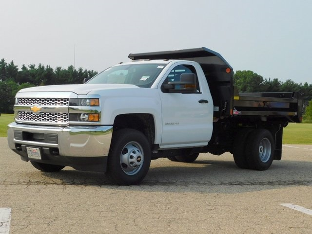 2019 Silverado 3500 Regular Cab DRW 4x4,  Monroe Dump Body #GT02847 - photo 8