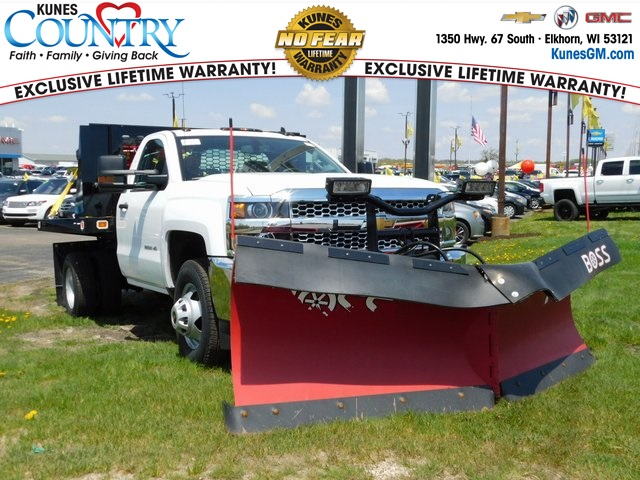 2019 Silverado 3500 Regular Cab DRW 4x4,  Knapheide Value-Master X Stake Bed #GT02911 - photo 1