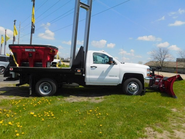 2019 Silverado 3500 Regular Cab DRW 4x4,  Knapheide Value-Master X Stake Bed #GT02911 - photo 2