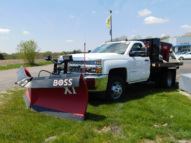 2019 Silverado 3500 Regular Cab DRW 4x4,  Knapheide Stake Bed #GT02911 - photo 8
