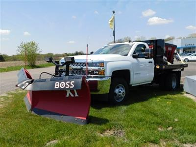 2019 Silverado 3500 Regular Cab DRW 4x4,  Knapheide Value-Master X Stake Bed #GT02911 - photo 8