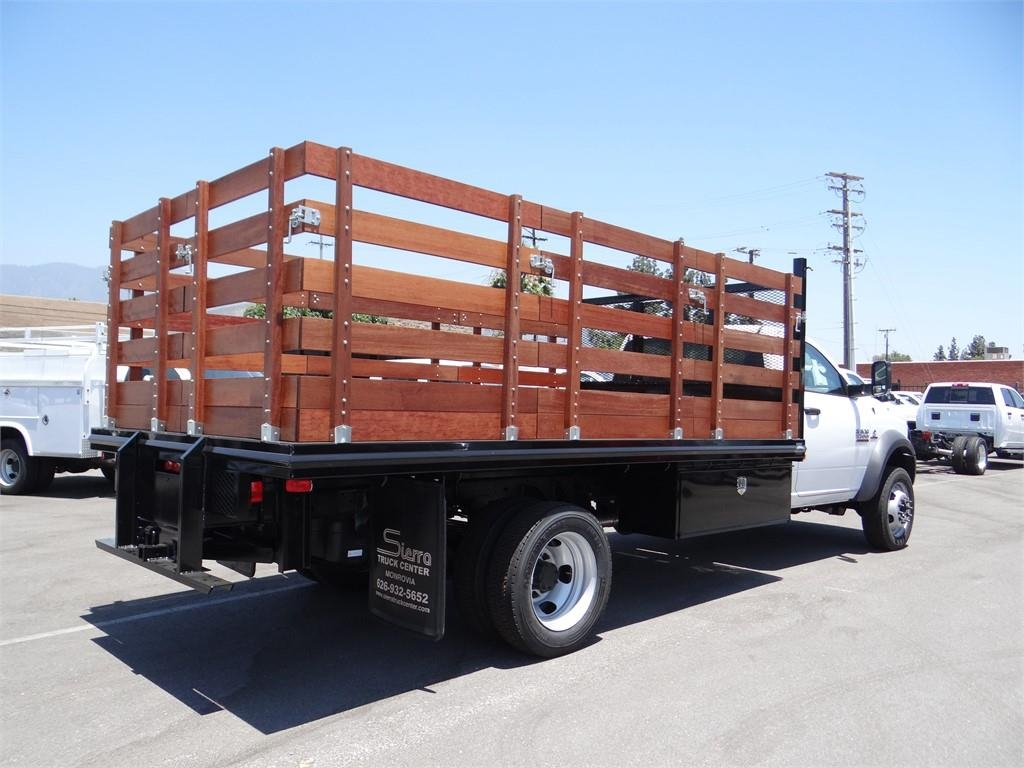 2018 Ram 5500 Regular Cab DRW 4x2,  Martin's Quality Truck Body Stake Bed #R1674T - photo 2