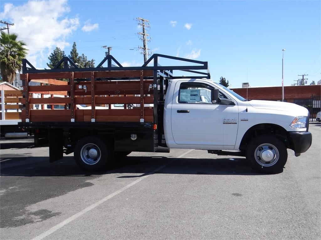 2018 Ram 3500 Regular Cab DRW 4x2,  Martin's Quality Truck Body Stake Bed #R1801T - photo 3