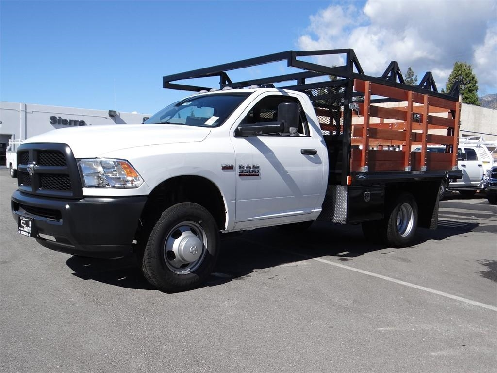 2018 Ram 3500 Regular Cab DRW 4x2,  Martin's Quality Truck Body Stake Bed #R1801T - photo 5