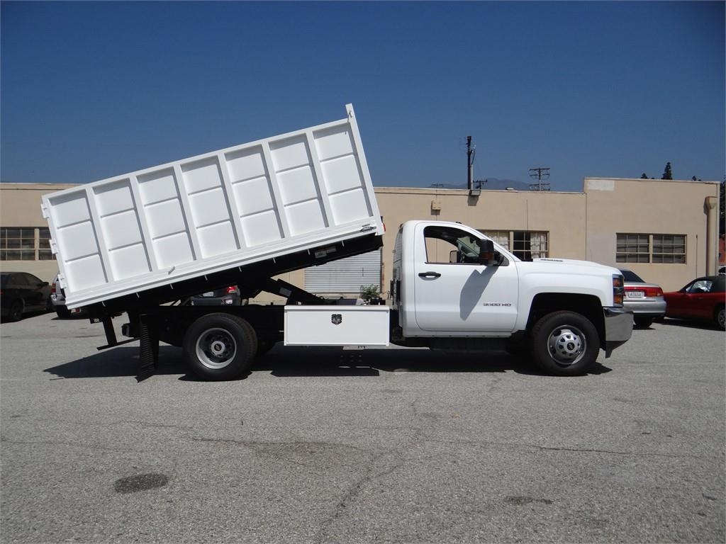2018 Silverado 3500 Regular Cab 4x2,  Martin's Quality Truck Body Landscape Dump #C156870 - photo 3