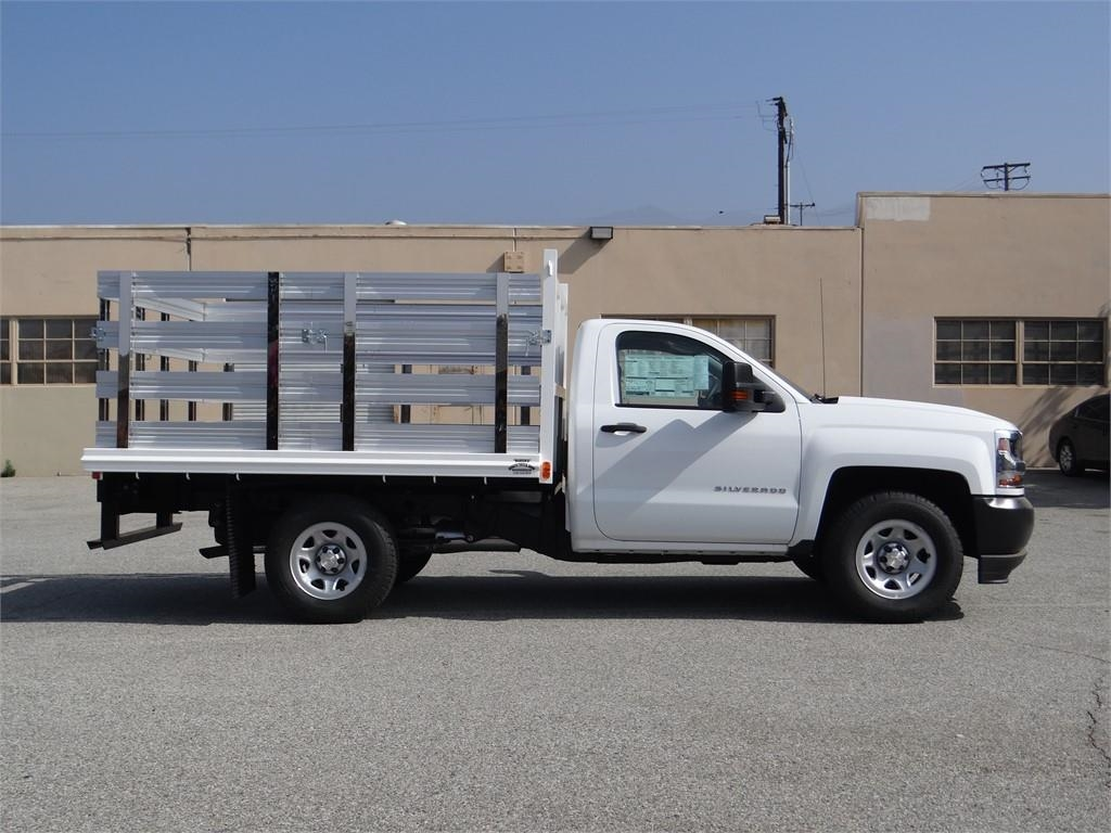 2018 Silverado 1500 Regular Cab 4x2,  Martin's Quality Truck Body Stake Bed #C157766 - photo 3
