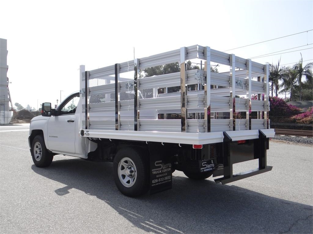2018 Silverado 1500 Regular Cab 4x2,  Martin's Quality Truck Body Stake Bed #C157766 - photo 5