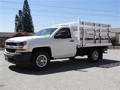 2018 Silverado 1500 Regular Cab 4x2,  Martin's Quality Truck Body Stake Bed #C157786 - photo 7
