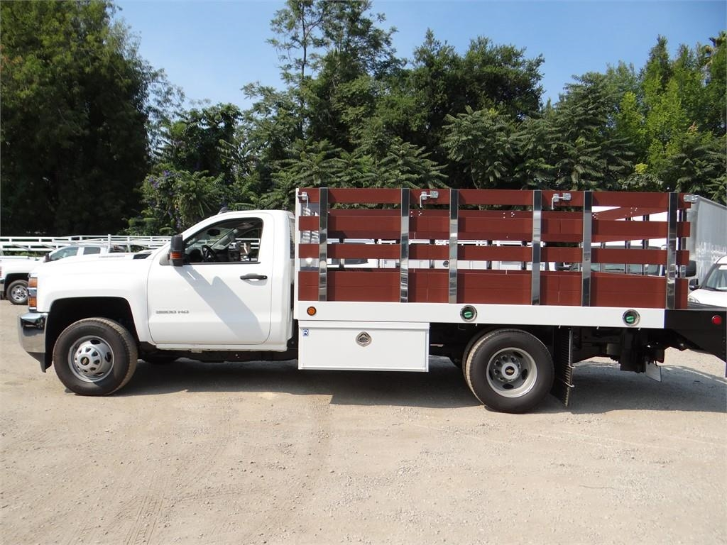 2018 Silverado 3500 Regular Cab 4x2,  Royal Stake Bed #C157852 - photo 5