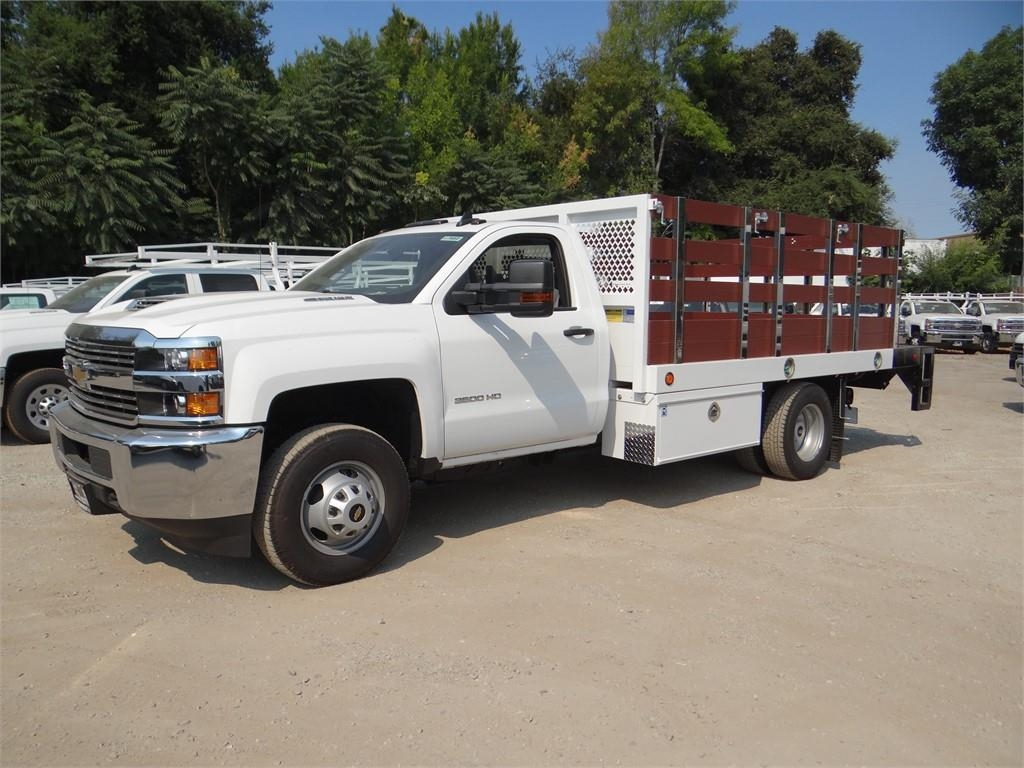 2018 Silverado 3500 Regular Cab 4x2,  Royal Stake Bed #C157852 - photo 6