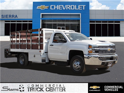 2018 Silverado 3500 Regular Cab 4x2,  Royal Stake Bed #C157852 - photo 1