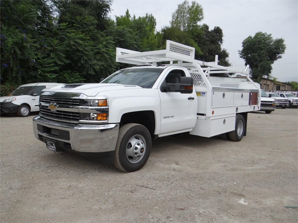 2018 Silverado 3500 Regular Cab 4x2,  Royal Contractor Body #C157853 - photo 7