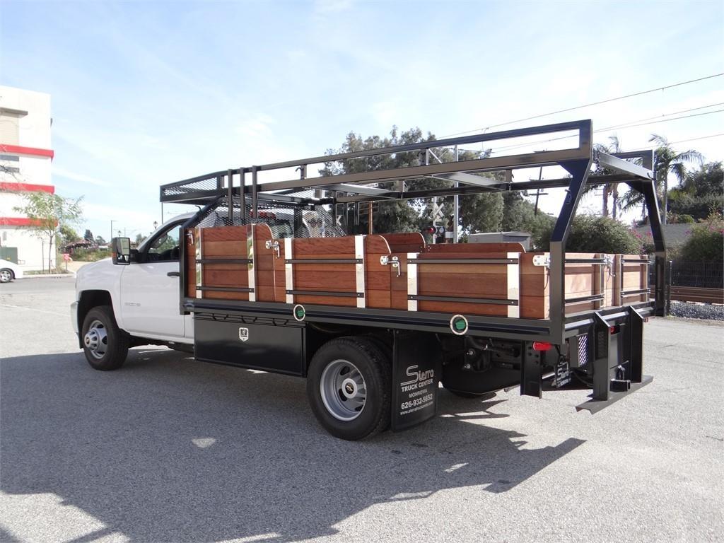 2019 Silverado 3500 Regular Cab 4x2,  Martin's Quality Truck Body Stake Bed #C158295 - photo 5