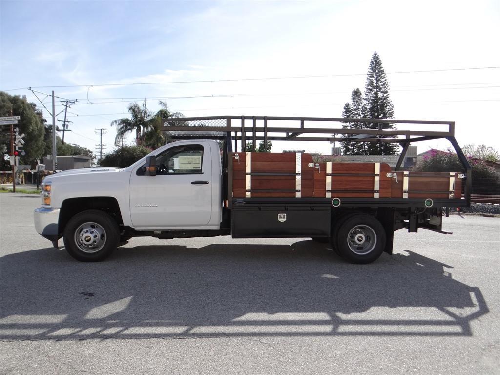 2019 Silverado 3500 Regular Cab 4x2,  Martin's Quality Truck Body Stake Bed #C158295 - photo 6