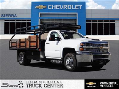 2019 Silverado 3500 Regular Cab 4x2,  Martin's Quality Truck Body Stake Bed #C158295 - photo 1