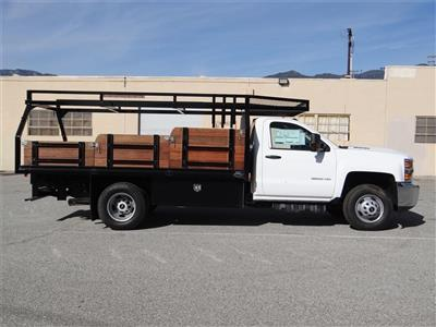 2019 Silverado 3500 Regular Cab 4x2,  Martin's Quality Truck Body Stake Bed #C158295 - photo 3