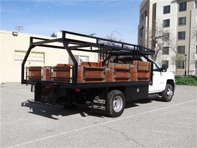 2019 Silverado 3500 Regular Cab 4x2,  Martin's Quality Truck Body Stake Bed #C158295 - photo 2
