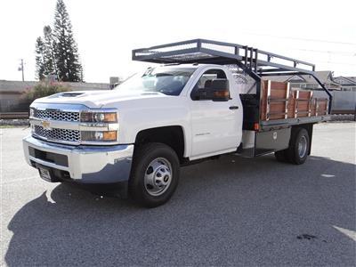 2019 Silverado 3500 Regular Cab 4x2,  Martin's Quality Truck Body Stake Bed #C158295 - photo 7
