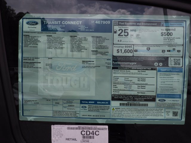 2020 Ford Transit Connect FWD, Empty Cargo Van #62359 - photo 12