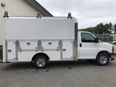 2019 Savana 3500 4x2,  Dejana Truck & Utility Equipment DuraCube Max Service Utility Van #N19075 - photo 1