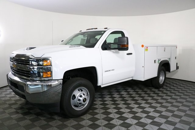 2018 Silverado 3500 Regular Cab DRW 4x4,  Monroe Service Body #F8037 - photo 3