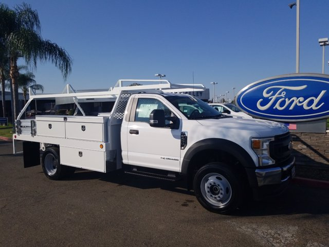 2020 Ford F-450 Regular Cab DRW 4x4, Scelzi Contractor Body #T17975 - photo 1