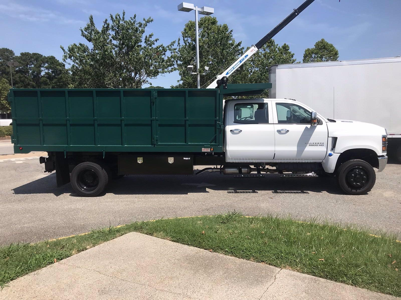 2021 Chevrolet Silverado 5500 Crew Cab DRW 4x4, Rugby Landscape Dump #CN16514 - photo 10
