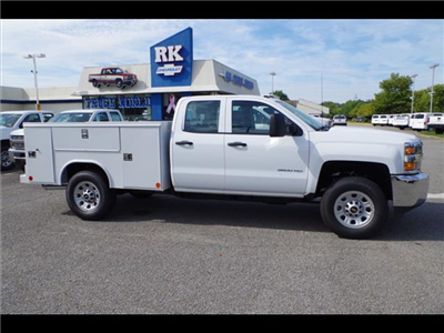 2018 Silverado 3500 Double Cab 4x2,  Reading SL Service Body #CN85921 - photo 8