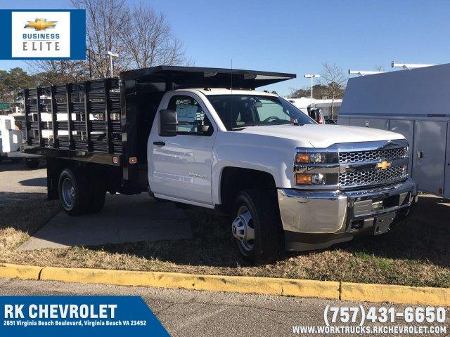 2019 Silverado 3500 Regular Cab DRW 4x4,  Knapheide Stake Bed #CN97545 - photo 1