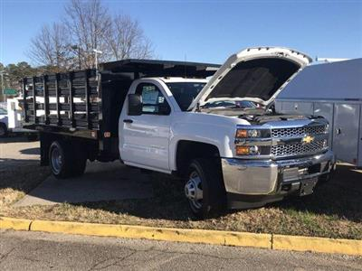 2019 Silverado 3500 Regular Cab DRW 4x4,  Knapheide Value-Master X Stake Bed #CN97545 - photo 34