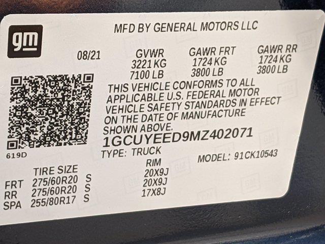 2021 Silverado 1500 Crew Cab 4x4,  Pickup #M9772 - photo 32