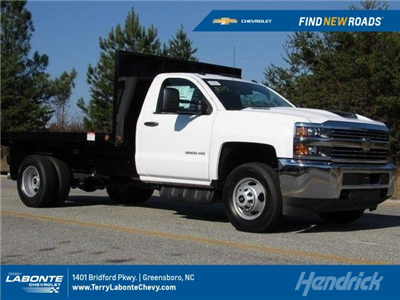 2017 Silverado 3500 Regular Cab DRW 4x2,  Freedom Workhorse Platform Body #MG3965 - photo 1