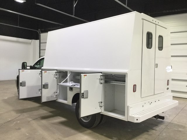 2018 Sierra 3500 Regular Cab DRW 4x2,  Reading Service Utility Van #40382 - photo 4