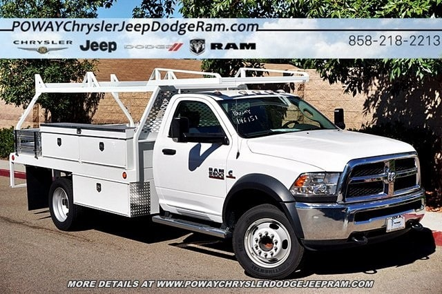2017 Ram 5500 Regular Cab DRW 4x2,  Scelzi Contractor Body #C14859 - photo 3