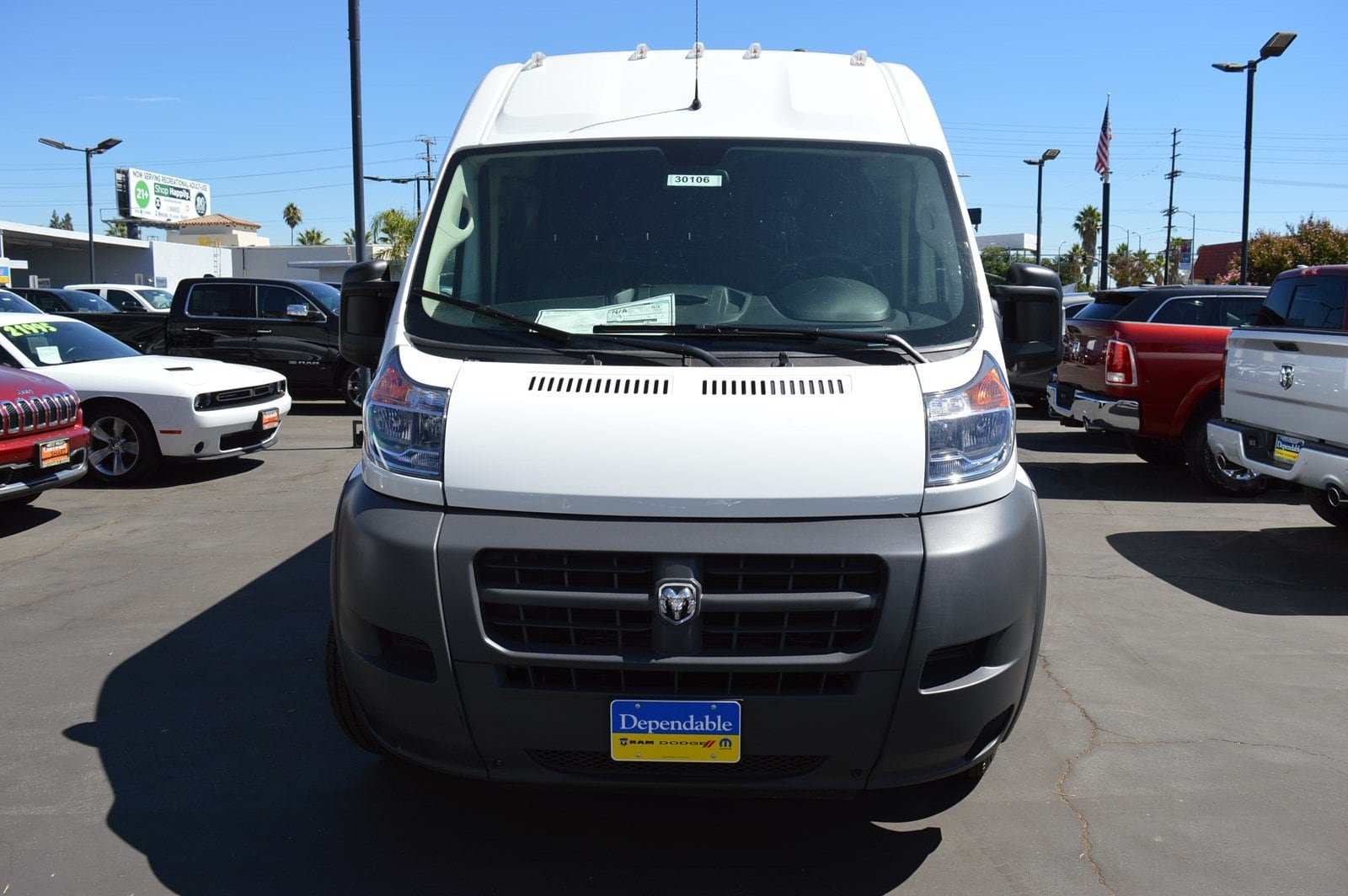 2018 ProMaster 3500 High Roof FWD,  Empty Cargo Van #30106 - photo 3