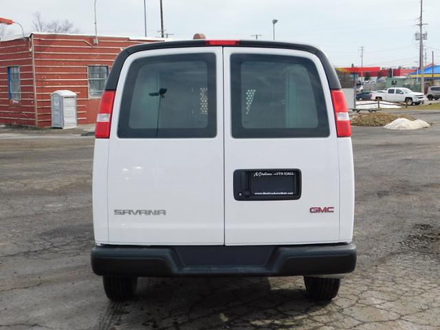2021 GMC Savana 2500 4x2, Adrian Steel Commercial Shelving Upfitted Cargo Van #G211173 - photo 4