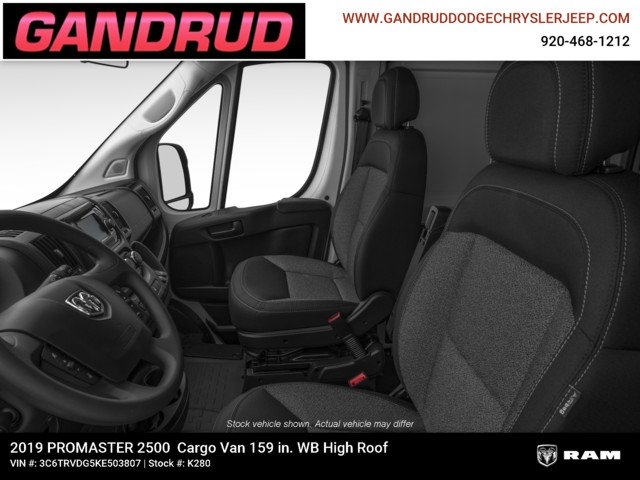 2019 ProMaster 2500 High Roof FWD,  Empty Cargo Van #K280 - photo 12