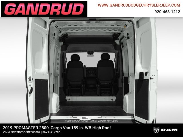 2019 ProMaster 2500 High Roof FWD,  Empty Cargo Van #K280 - photo 14