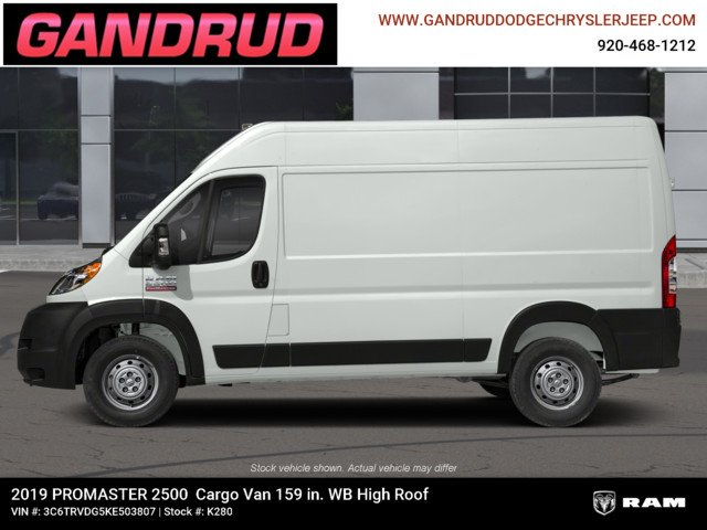 2019 ProMaster 2500 High Roof FWD,  Empty Cargo Van #K280 - photo 3