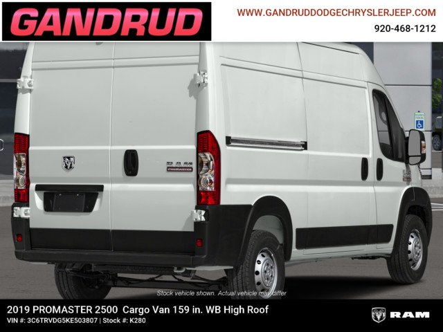2019 ProMaster 2500 High Roof FWD,  Empty Cargo Van #K280 - photo 4