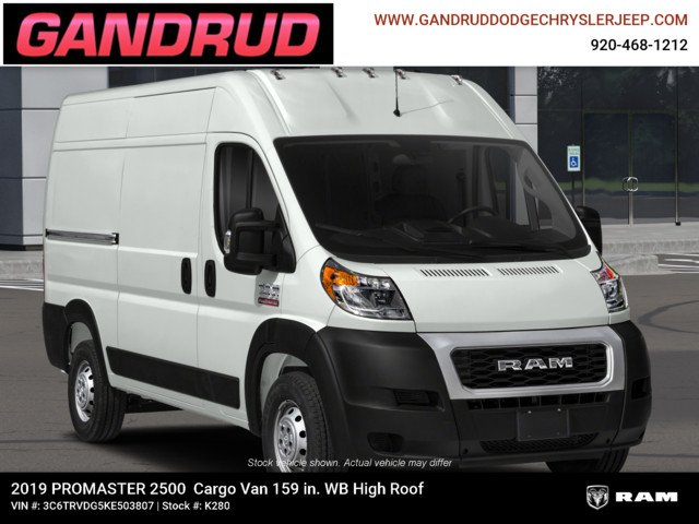 2019 ProMaster 2500 High Roof FWD,  Empty Cargo Van #K280 - photo 5