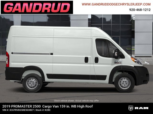 2019 ProMaster 2500 High Roof FWD,  Empty Cargo Van #K280 - photo 6