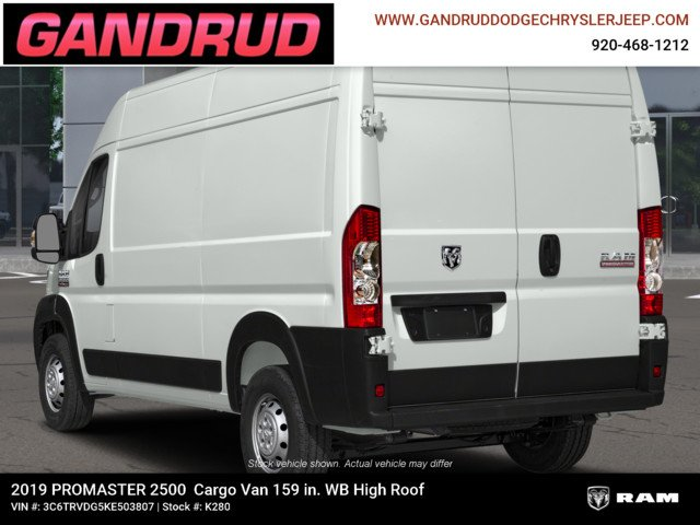2019 ProMaster 2500 High Roof FWD,  Empty Cargo Van #K280 - photo 7