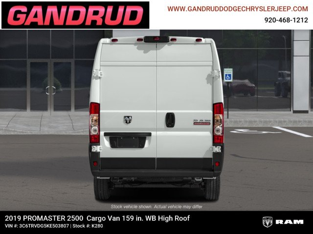 2019 ProMaster 2500 High Roof FWD,  Empty Cargo Van #K280 - photo 9