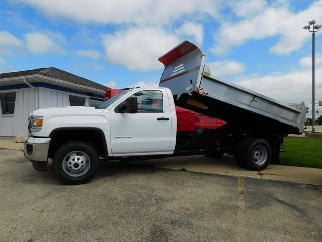 2019 Sierra 3500 Regular Cab DRW 4x4,  Monroe Dump Body #GT02825 - photo 16