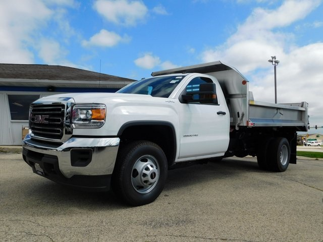 2019 Sierra 3500 Regular Cab DRW 4x4,  Monroe Dump Body #GT02825 - photo 8