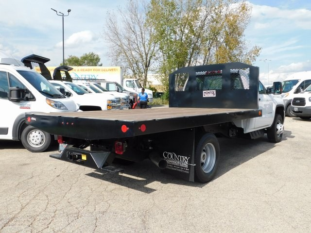 2018 Sierra 3500 Regular Cab DRW 4x2,  Monroe Platform Body #GT02841 - photo 2