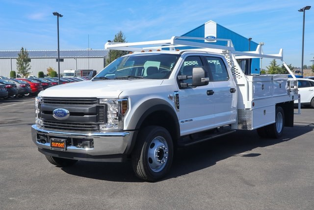 2019 Ford F-550 Crew Cab DRW 4x2, Scelzi Contractor Body #T20337 - photo 1