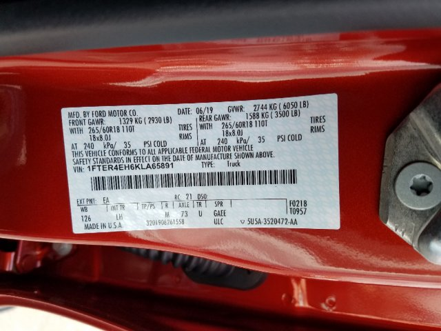 2019 Ranger SuperCrew Cab 4x2,  Pickup #T195056 - photo 33